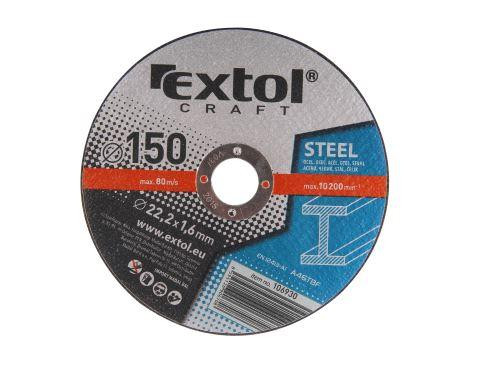 Kotouče řezné Extol 106930 na kov, 5ks, 150x1,6x22,2mm