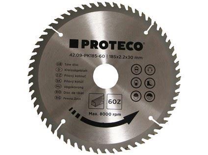 Pilový kotouč Proteco 42.09-PK185-60, SK plátky, 185 x 2.2 x 30/20mm 60z