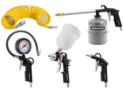 Sada pneumatického nářadí Proteco 10.25-001, 5ti dílná