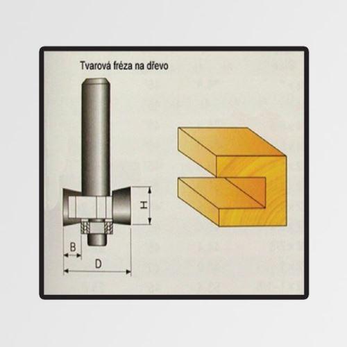 Tvarové fréza do dřeva 9,4x4mm