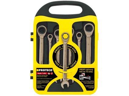 Sada klíčů ráčnových 42.18-344-772, CrV (8,10,12,13,14,17,19mm)