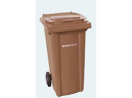 Plastová popelnice Proteco 10.86-P120-HN, 120l, hnědá