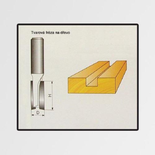 Tvarové fréza do dřeva 12x19mm
