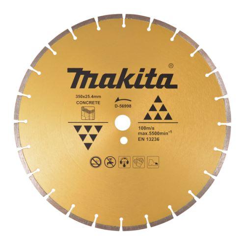 Diamantový kotouč Makita D-56998, 350x25.4x7.5mm, na beton