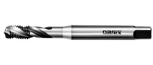 Strojní závitník Narex Ždánice M8x1,25 se šroubovitou drážkou 40°, HSSE