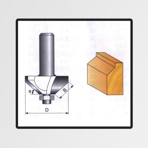 Tvarové fréza do dřeva 8x15,9mm