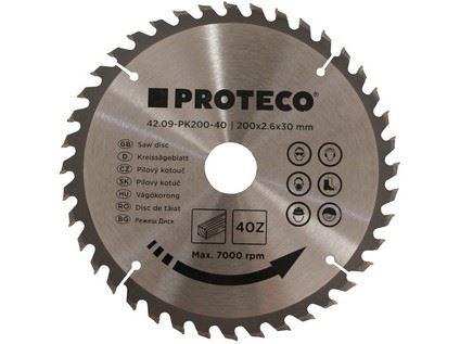 Pilový kotouč Proteco 42.09-PK200-40, SK plátky, 200x2.6x30/20mm 40z