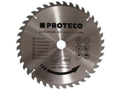 Pilový kotouč Proteco 42.09-PK300-40, SK plátky, 300x3,2x30/20mm 40z