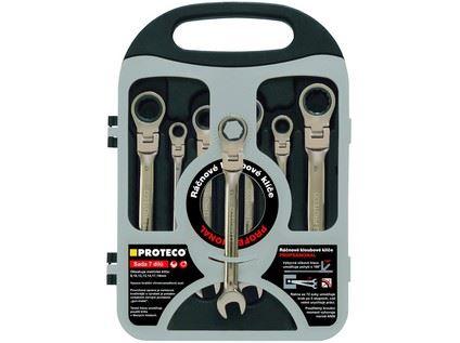Sada klíčů ráčnových 42.18-343-772, CrV (8,10,12,13,14,17,19mm), kloub