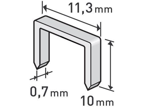 Spony Extol 8852503, balení 1000ks, 10mm, 11,3x0,52x0,70mm