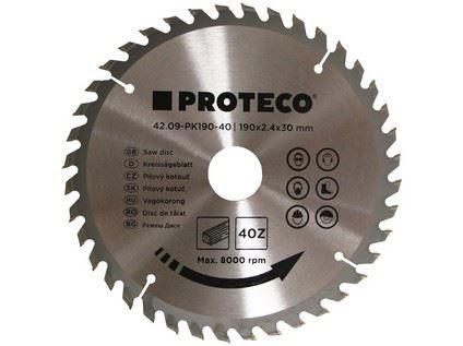Pilový kotouč Proteco 42.09-PK190-40, SK plátky, 190 x 2.4 x 30/20mm 40z