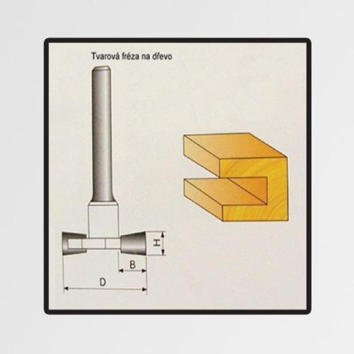 Tvarové fréza Stavtool do dřeva 12x9,4mm