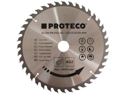 Pilový kotouč Proteco 42.09-PK250-40, SK plátky, 250 x 3,0 x 30/20mm 40z