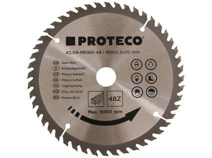 Pilový kotouč Proteco 42.09-PK160-48, SK plátky, 160 x 2.2 x 20mm 48z