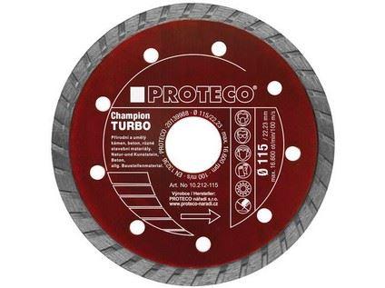 Diamantový celistvý kotouč Proteco 10.212-115 turbo champion 115 mm