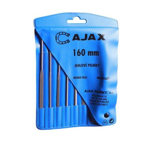 Sada jehlových pilníků Ajax 160/2-6D, 160mm, 6ks