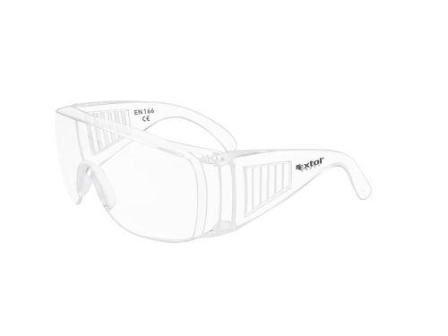 Brýle ochranné polykarbonát Extol, univerzální velikost, čirý, panoramatický zorník třídy F,