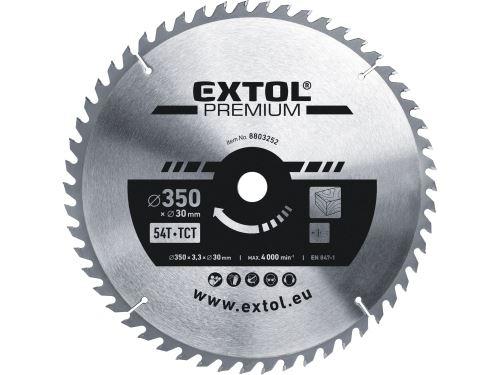 Kotouč pilový s SK plátky Extol 8803252, 350x2,5x30mm, 54T, šířka SK plátků 3,5mm
