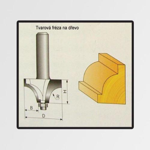 Tvarové fréza do dřeva 11,1x12,9mm