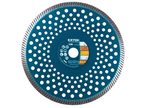 Kotouč diamantový Extol 8703055 řezný turbo Fast Cut, 230x22,2mm, suché i mokré řezání