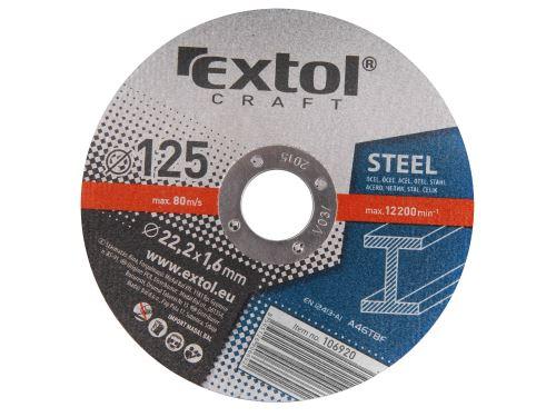 Kotouče řezné Extol 106920 na kov, 5ks, 125x1,6x22,2mm