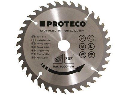 Pilový kotouč Proteco 42.09-PK160-36, SK plátky, 160 x 2.2 x 20mm 36z