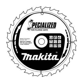Pilový kotouč Makita B-09307, 165x20mm 56T, trapézový zub