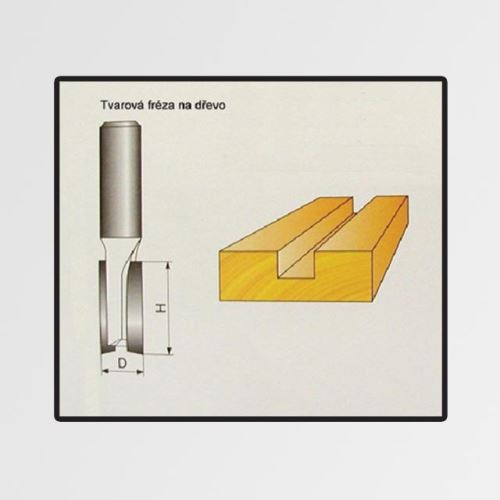 Tvarové fréza do dřeva 6x19mm